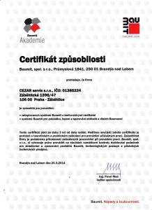 Baumit - certifikat zpusobilosti